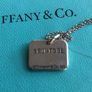 "TIFFANY & Co Sterling Silver 16""Chain Personalized"